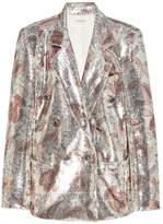Rodarte sequinned paisley print blazer
