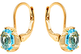 Sweet & Soft Gold & Aqua Swarovski® Crystal Round Huggie Earrings
