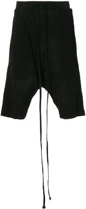 Julius Drop-Crotch Knitted Shorts