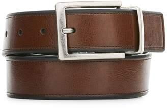 Perry Ellis Reversible Beveled Edge Leather Belt