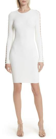 Alexander Wang Bra Strap Sleeve Body-Con Dress