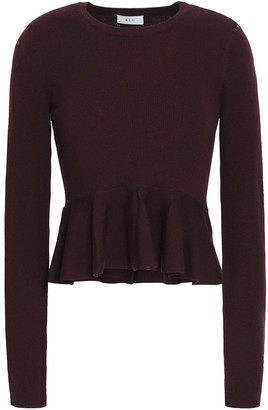 A.L.C. Alex Ribbed-knit Merino Wool-blend Top