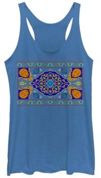 Disney Juniors' Aladdin Magic Carpet Panel Print Tri-Blend Tank Top