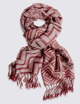 Marks and Spencer Geometric Print Scarf