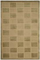 Safavieh TB111A-5 Tibetan Collection Hand-Knotted Sage and Beige Wool Area Rug, 5-Feet by 7-Feet 6-Inch