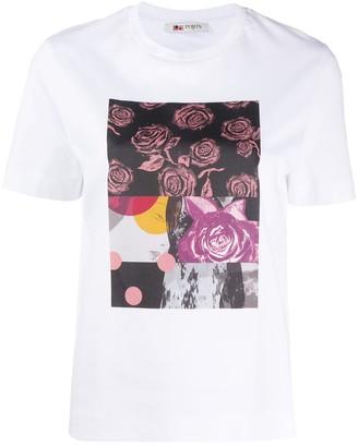 Ports 1961 roses-print crew neck T-shirt