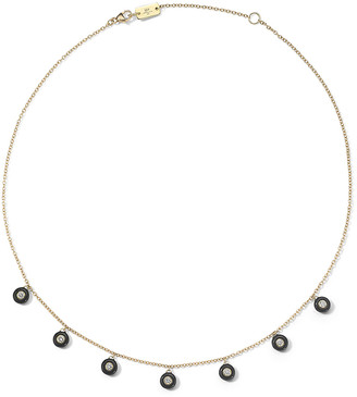 Ippolita 18K Carnevale Stardust Ceramic and Diamond Shaker Necklace