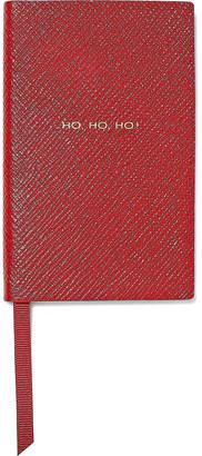 Smythson Ho Ho Ho Textured-leather Notebook