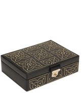 Wolf 'Marrakesh' Flat Jewelry Box - Black