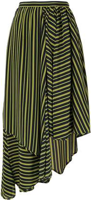 Nina Ricci asymmetric striped skirt
