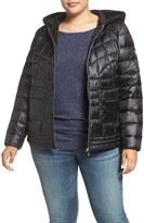Bernardo Plus Size Women's Packable Hooded Down & Primaloft Fill Jacket