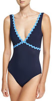 Karla Colletto New Wave V-Neck Silent Underwire One-Piece Swimsuit