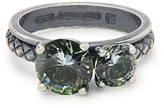 Bottega Veneta Cubic-zirconia and silver ring