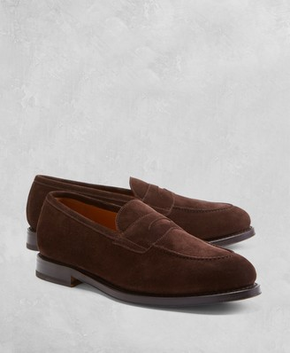 Brooks Brothers Golden Fleece Suede Penny Loafers