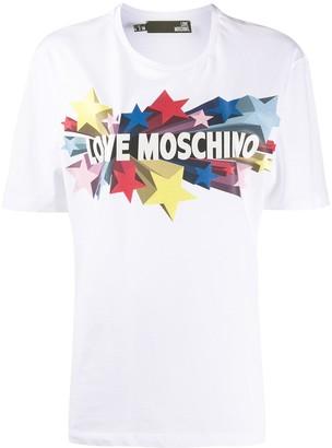 Love Moschino star logo print T-shirt