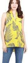 M&Co Izabel leaf print blouse
