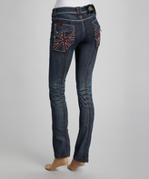 Rebel Spirit Blue Faded Boyfriend Jeans