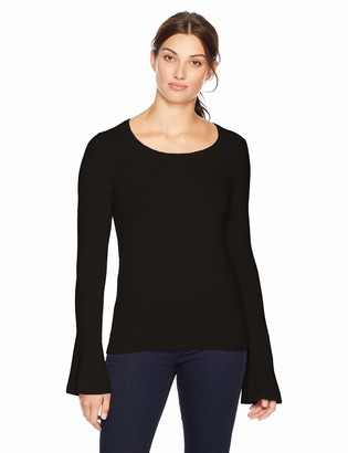 Lark & Ro Amazon Brand Women's Sweaters Crewneck Cashmere Sweater with Flute Sleeves