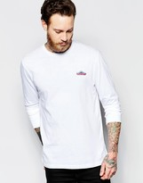 Penfield Long Sleeved T-Shirt with Mountain Logo In White Exclusive
