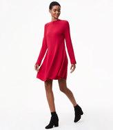 LOFT Tall Mock Neck Swing Sweater Dress