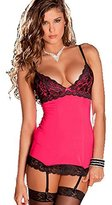 Sbra Womens Stain Chemise Babydoll Lace nightwear and G-String