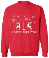Xekia Happy Festivus Deers Ugly Sweater Best Friend Unisex Crewneck Sweatshirt