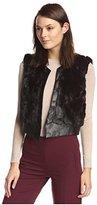 The Cue Women's Katrina Faux Fur Cropped Vest