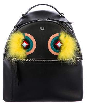 Fendi Monster Leather Backpack