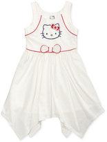 Hello Kitty Graphic-Print Handkerchief Dress, Little Girls (4-6X)