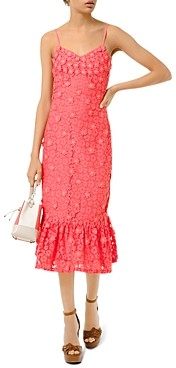 MICHAEL Michael Kors Floral-Lace Slip Dress