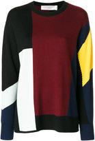 Victoria Beckham colour block jumper - women - Wool - 6