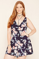 Forever 21 FOREVER 21+ Plus Size Floral Lace-Up Romper