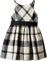 Polo Ralph Lauren Poly Taffeta Plaid Fit and Flare Dress (Toddler)