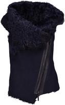 Karl Donoghue Asymmetric shearling-lined suede vest