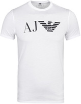 Armani Jeans Eagle Logo White Short Sleeve T-shirt