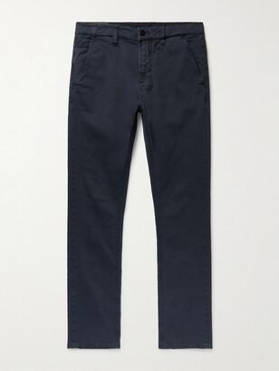 Nudie Jeans Slim Adam Garment-Dyed Stretch Organic Cotton-Twill Trousers - Men - Blue