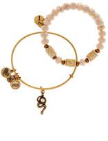 Alex and Ani Golden Snake Beaded Bangle Bracelets - Set of 2