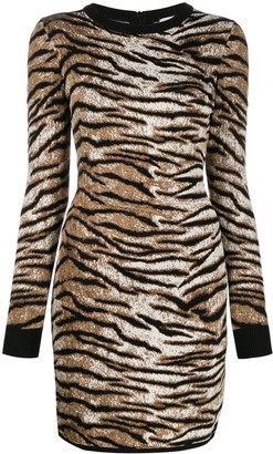 MICHAEL Michael Kors Tiger Pattern Knitted Dress