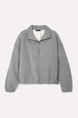 Bassike Oversized Cotton-fleece Sweatshirt - Gray