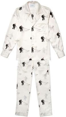 Casablanca Printed Satin Pajama Set