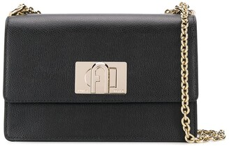 Furla Monogram Clasp Crossbody Bag