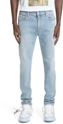 Off-White Logo Slim Fit Jeans