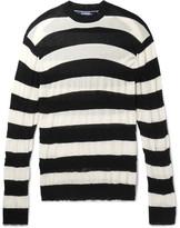 Junya Watanabe Distressed Striped Cotton Sweater