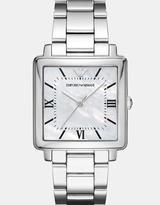 Emporio Armani Modern Square Silver-Tone Analogue Watch