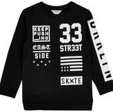 Wallis **Boys Black '33 Street' Graphic Print Sweatshirt ( 5 - 12 years)