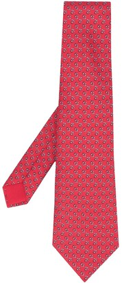 Hermes 2010s Pre-Owned Anchor Print Tie