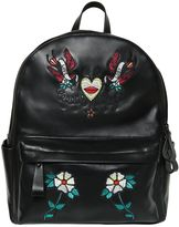 John Richmond Embroidered Leather Backpack