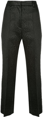 Rochas pebbled leather look trousers