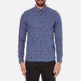 Nudie Jeans Men's Henry Flannel Check Shirt Indigo