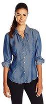 Nic+Zoe Women's Drapey Denim Shirt